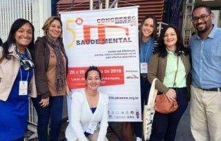 Equipe do Holiste Dia no Congresso Brasileiro de Saúde Mental