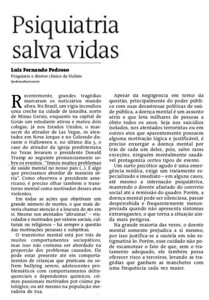 artigo publicado no Jornal ATarde, 17/11/2017